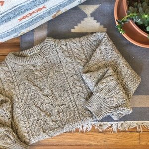 2/$30 Vintage Chunky Cable Knit Oversize Sweater